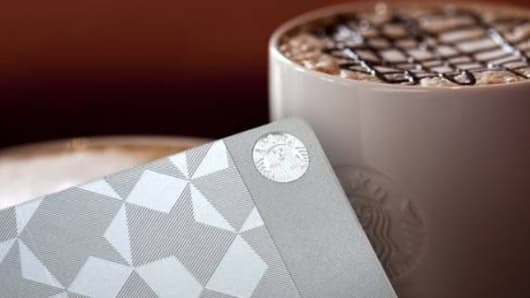 Starbucks unveils $450 metal gift cards.