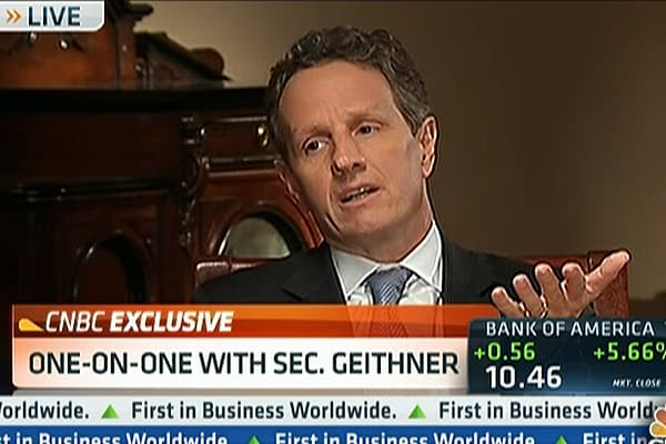 Geithner to CNBC: 'Little Bit of Progress' on 'Cliff'