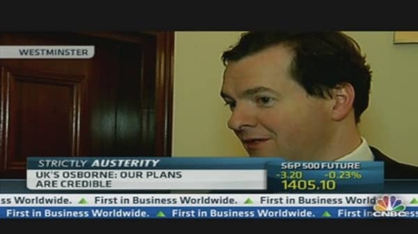 UK's Osborne: Our Plans are Credible