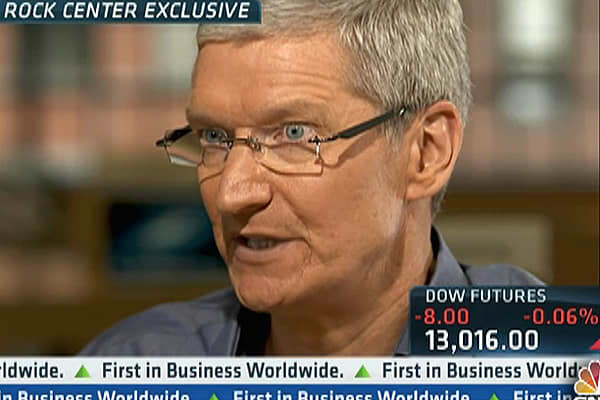 Apple CEO Tim Cook Speaks on Steve Jobs & Manufacturing