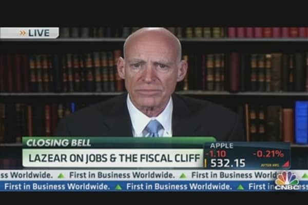 Lazear on Employment & the 'Fiscal Cliff'