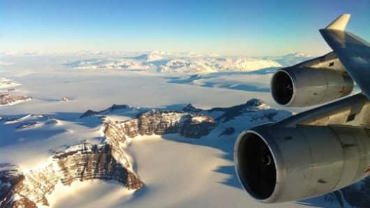 Antarctica Flights/Croydon Travel offering day-trip flights to Antarctica.