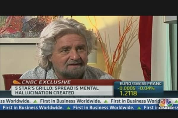 Italy's Grillo:  Mario Monti Needs to Disappear
