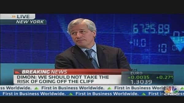 Dimon: 'Irrational and Irresponsible to Go Off Cliff'
