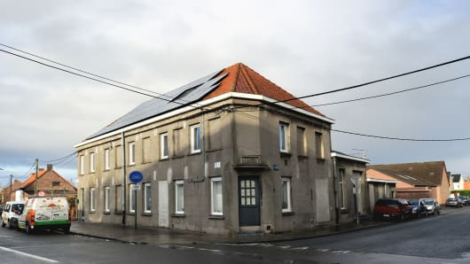 A photo taken on December 10, 2012 shows a house in the Belgian village of Nechin near Estaimpuis allegedly bought by French actor Gerard Depardieu.