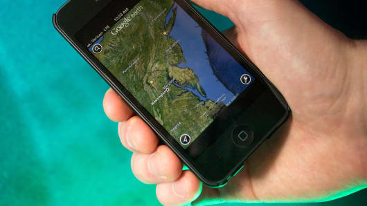 Google Maps app for Apple ios.