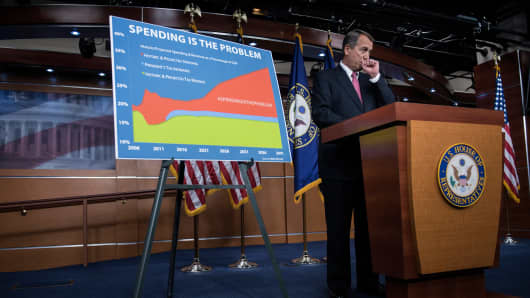 John Boehner with spending chart