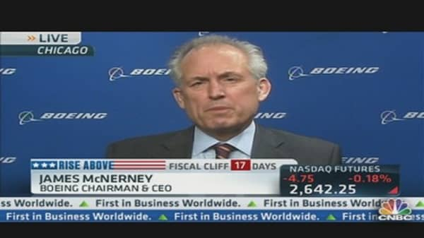 Boeing CEO Preparing For the 'Fiscal Cliff'