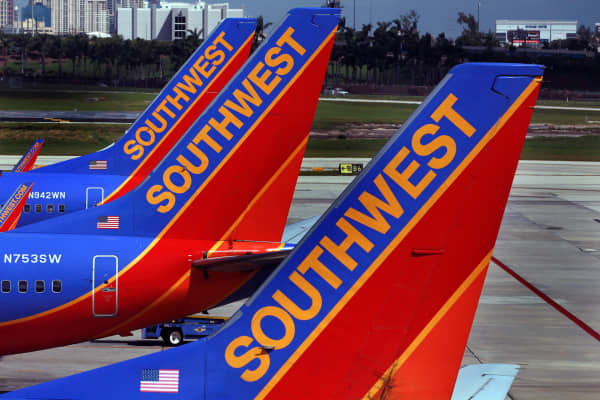 File photo of Southwest Airlines planes