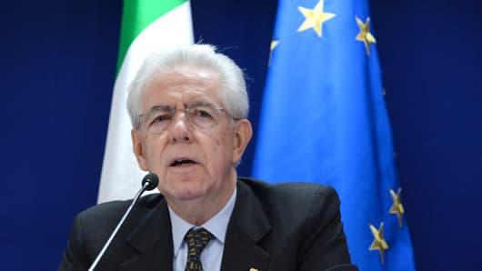 Italian Prime Minister, Mario Monti.