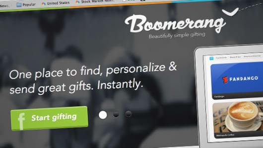 Boomerang, an online gift-giving service.
