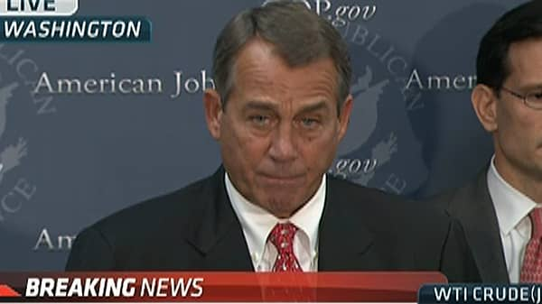 Boehner Remarks on 'Cliff' Talks