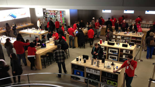 Yahoo! CEO Marissa Mayer's photo of 5th Avenue Apple Store in New York City.