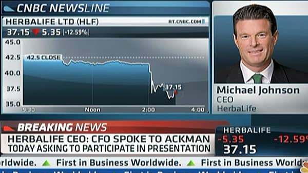 Herbalife CEO: This is a Legitimate Company