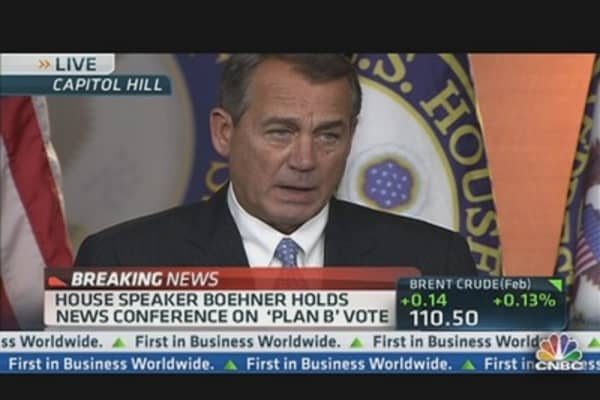 Boehner: Dems Will be Responsible for Tax Hike