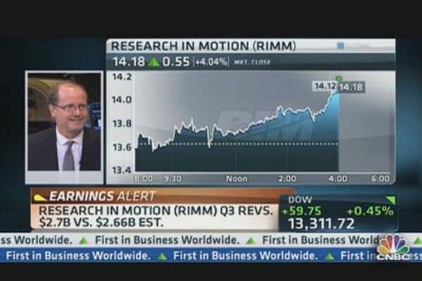 Research In Motion Earnings Out