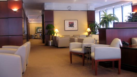 United Club at Cleveland Airport