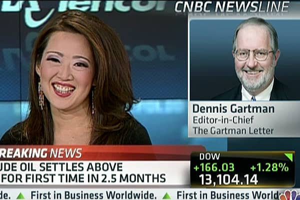 Gartman's Top Plays for 2013 (Not Gold)