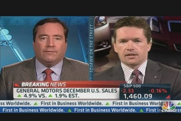 GM December Auto Sales Up 4.9% vs. 1.9% Est.