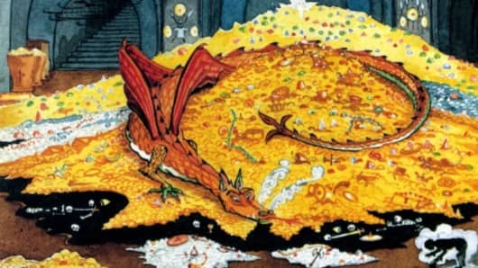 Image result for smaug on gold