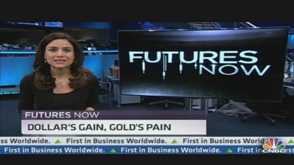 Futures Now: Dollar's Gain, Gold's Pain