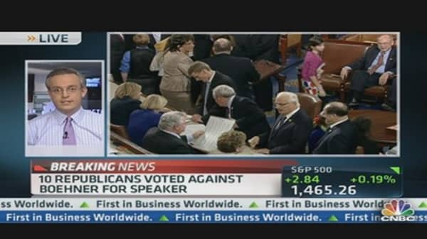 Boehner Re-Elected Speaker of House