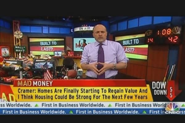 Cramer: Home Building to Drive Gains in 2013