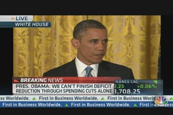 President Obama Addresses Debt Ceiling