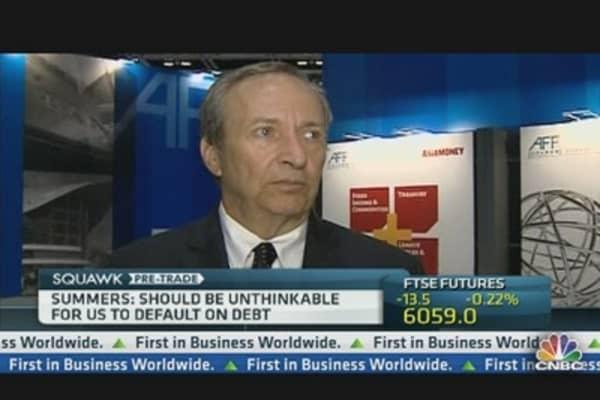 Summers: A US Default Should Be 'Unthinkable'