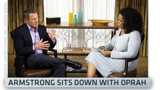 Oprah Winfrey interviews Lance Armstrong