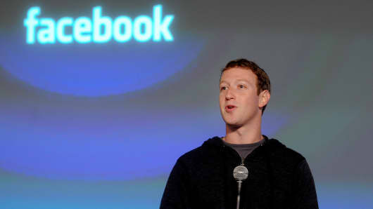 Mark Zuckerberg, chief executive officer and founder of Facebook, at its headquarters in Menlo Park, Calif.