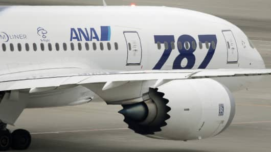 A Boeing Co. 787 Dreamliner airplane for All Nippon Airways