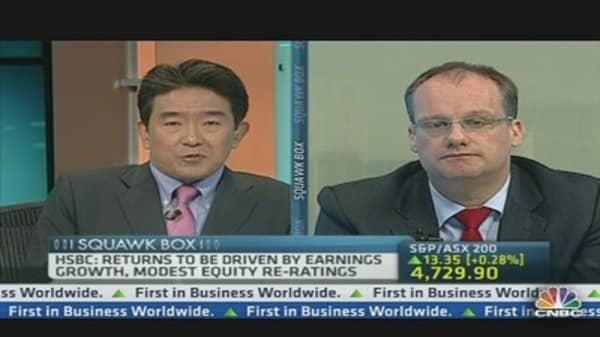Expect Strong Returns from Asian Equities in 2013: HSBC
