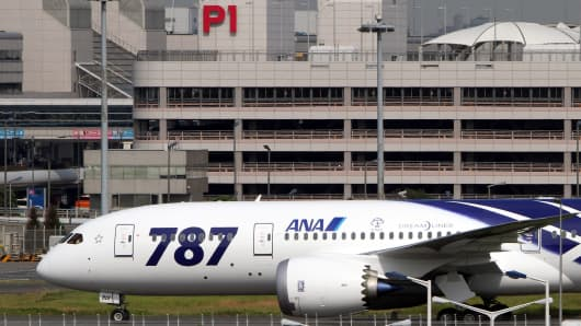 A Boeing Co. 787 Dreamliner for All Nippon Airways Co.