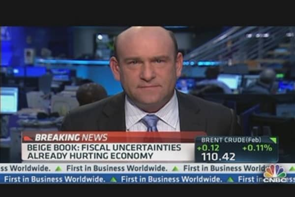 Biege Book Headlines: Fiscal Uncertainties Hurting Economy