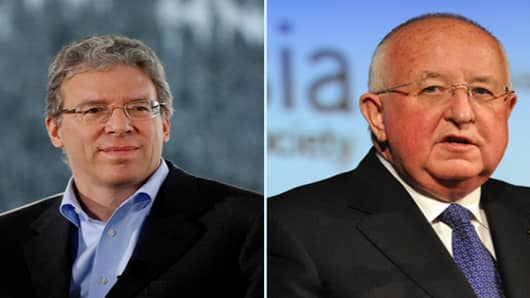 Rio Tinto's outgoing chief executive, Tom Alabanese (left). He will be replaced by Sam Walsh (right) who currently heads the company's iron ore business.