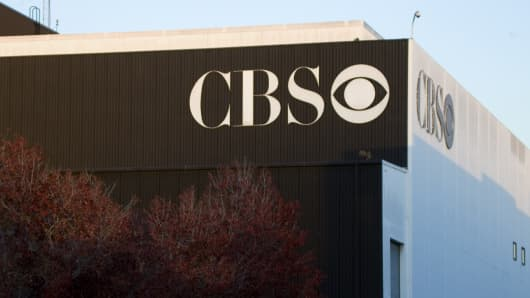 Signage is displayed on the CBS Corp. Television City building in Los Angeles, California, U.S.