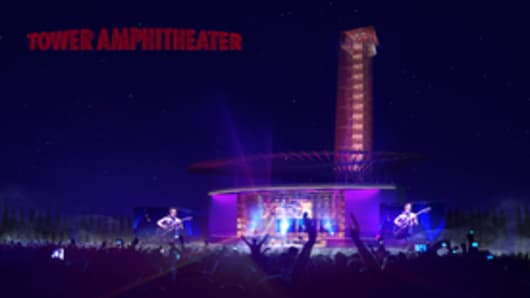 Rendering of Tower Amphitheater at Circuit of The Americas