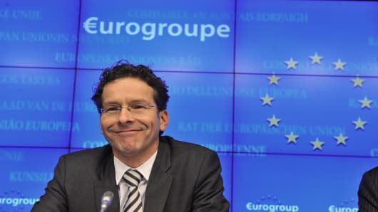 Newly elected Eurozone President and Dutch Finance Minister Jeroen Dijsselbloem