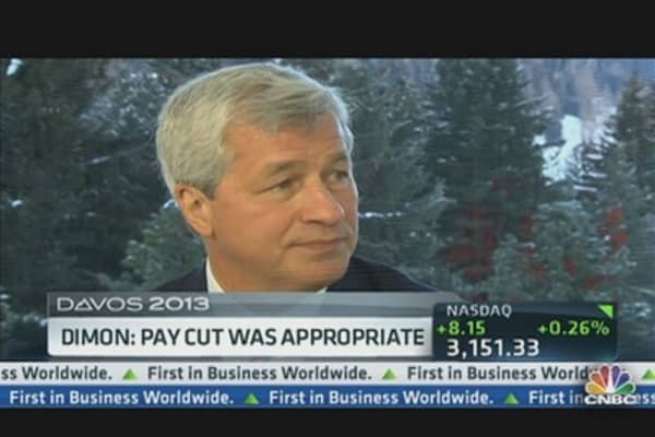Dimon: Pay Cut Was Appropriate