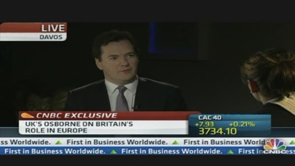 UK's Osborne: Credibility Is Hard Won and Easily Lost
