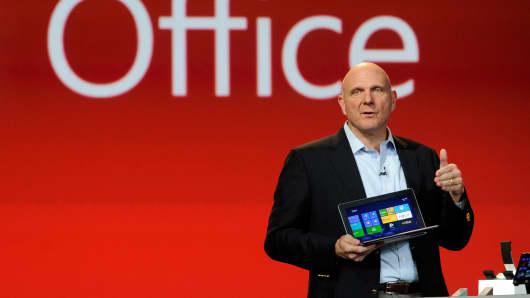 Microsoft Corp CEO Steve Ballmer.