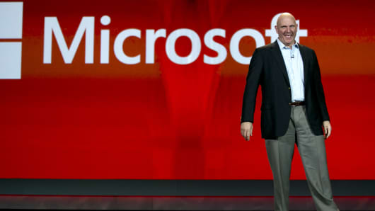 Steve Ballmer, chief executive officer of Microsoft Corp.