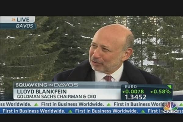 Banking on Blankfein at Davos, Part 1