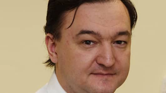 Sergei Magnitsky, deceased man on trial in Russia.