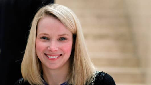Marissa Mayer at the World Economic Forum in Davos, Switzerland.