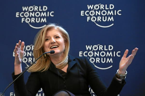 Arianna Huffington at the World Economic Forum in Davos, Switzerland.