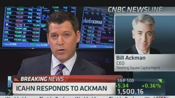Ackman: Icahn 'Did Me a Favor'