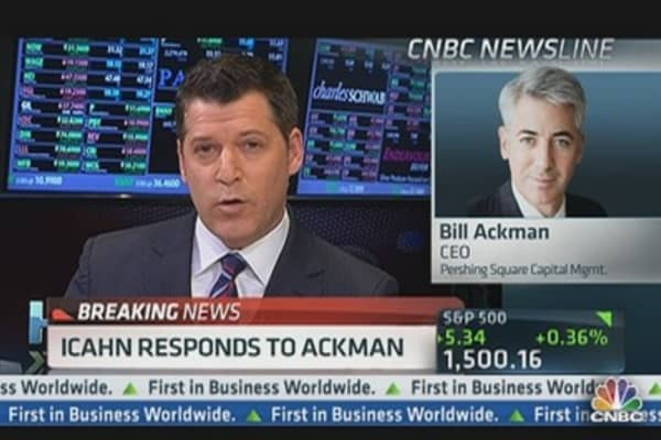 Ackman: Icahn 'Did Me a Favor'