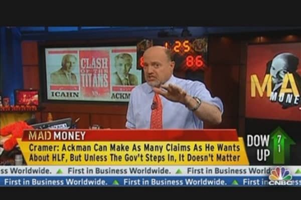 Cramer's Take on Ackman vs. Icahn